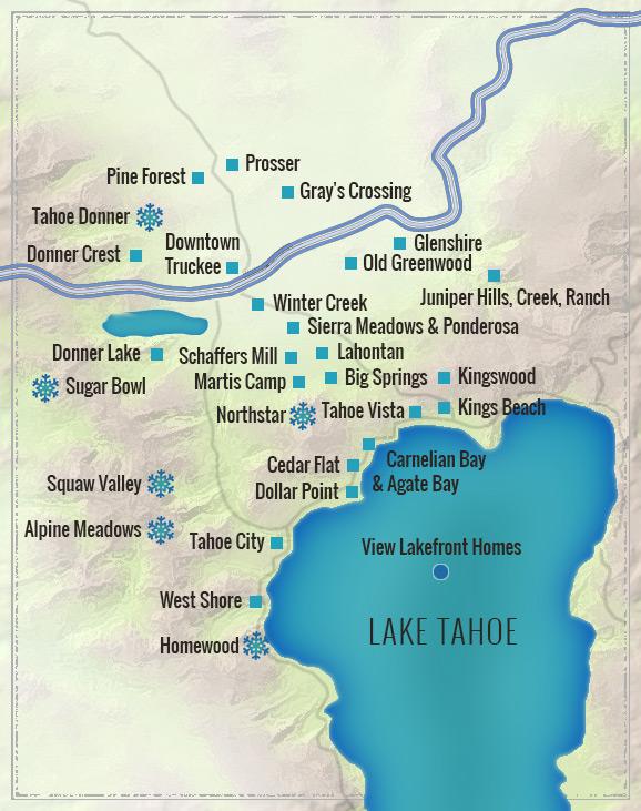 Tahoe Truckee Map Search Lake Tahoe Truckee Real Estate